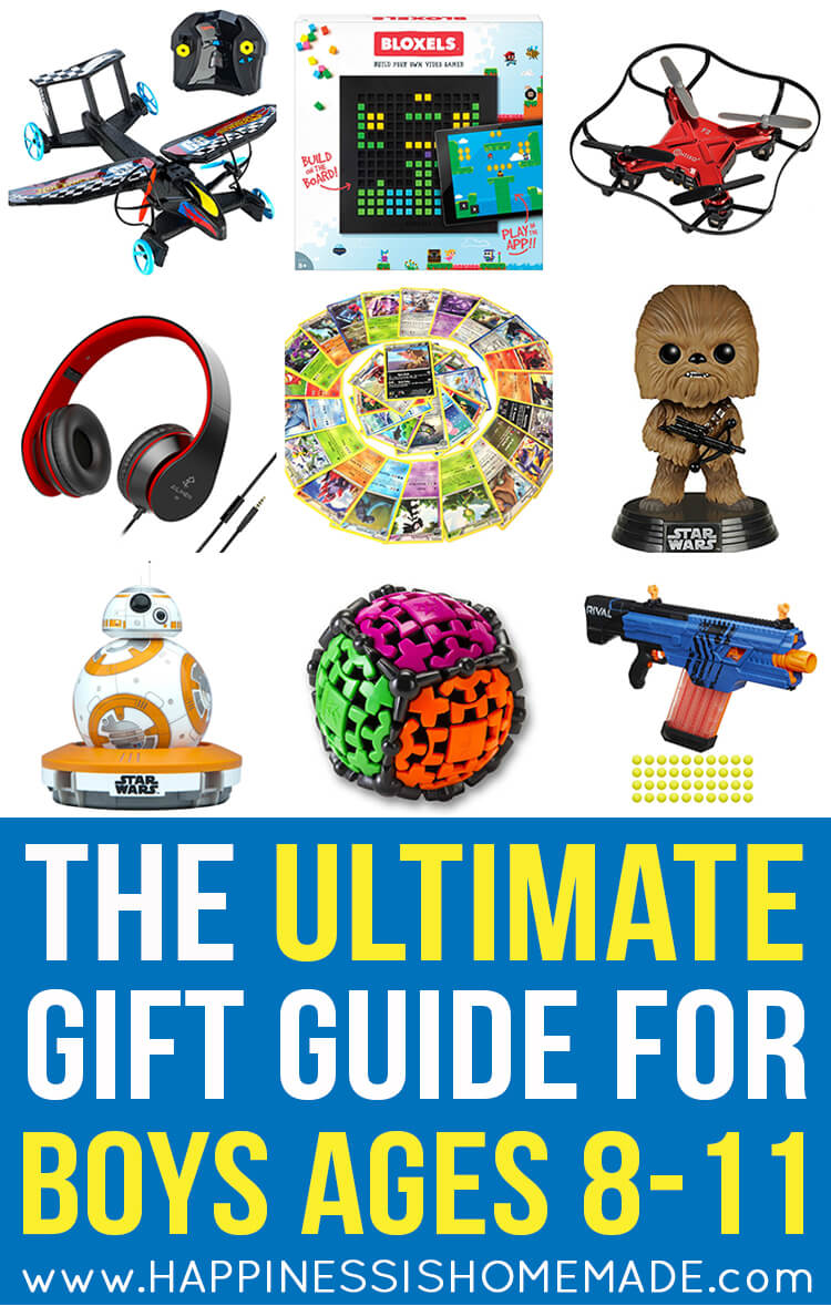 the best gift ideas for boys ages 8-11 - happiness is homemade