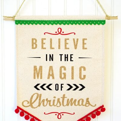 """Believe in the Magic of Christmas"" Banner"