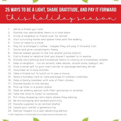 25 Simple Acts of Kindness