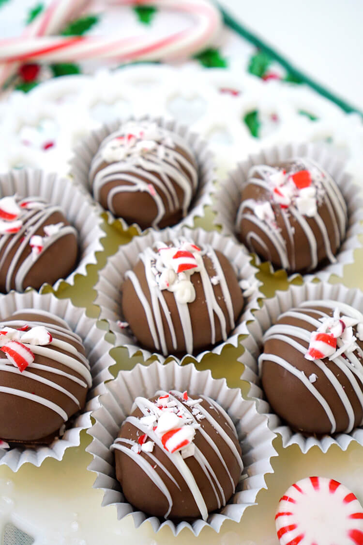 Easy Peppermint Brownie Truffles Happiness Is Homemade