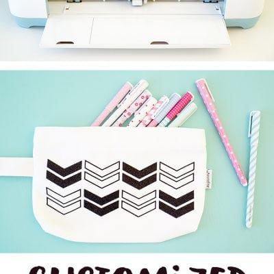 Customized Pencil Pouch with Cricut Explore Air