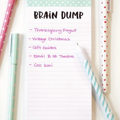 """Brain Dump"" & ""So Much To Do"" Printable DIY Notepads"