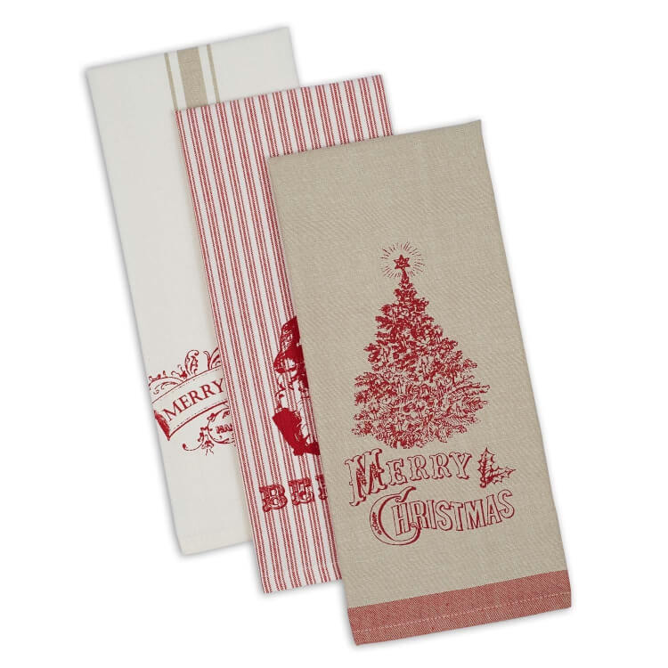 feedsack christmas towels