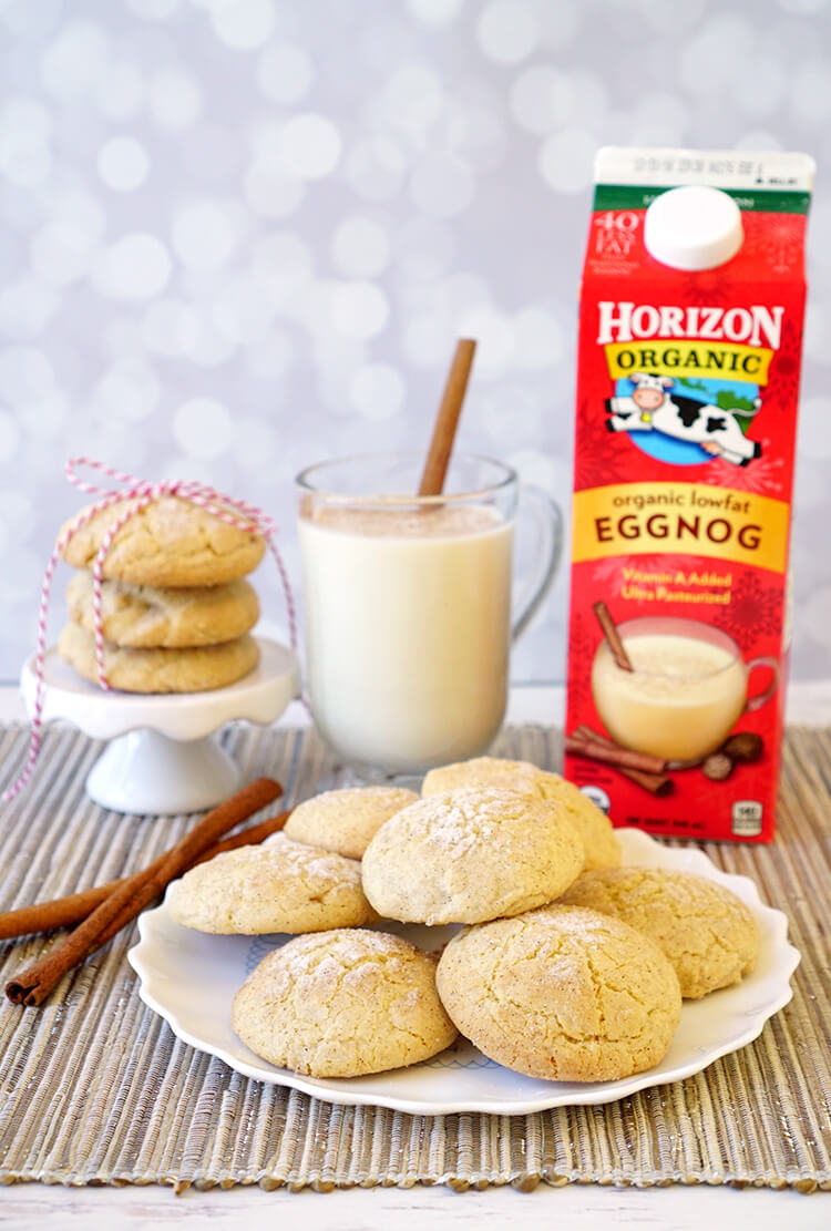Holiday baking eggnog snickerdoodle cookies happiness is homemade - Traditional eggnog recipe holidays ...