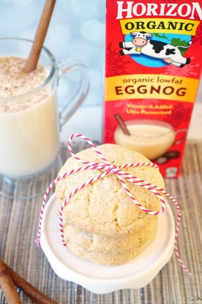 Holiday Baking: Eggnog Snickerdoodle Cookies