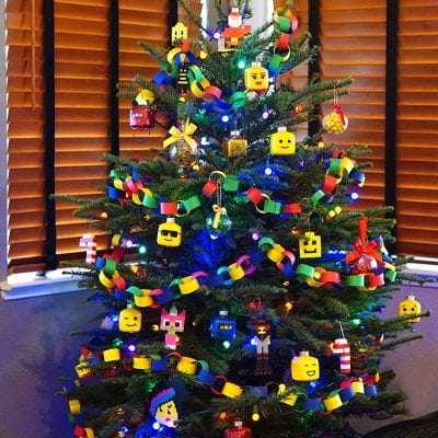 Kids' LEGO Themed Christmas Tree