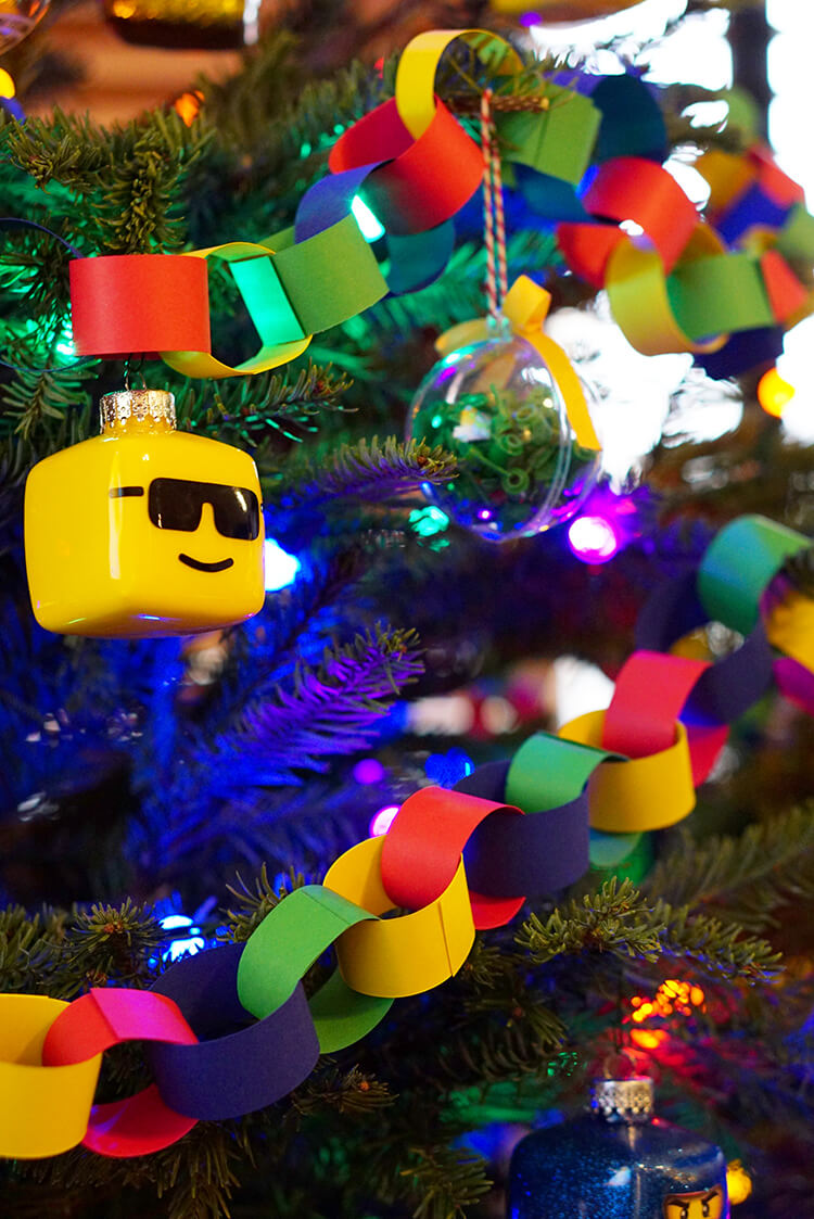 paper-chain-and-lego-ornaments