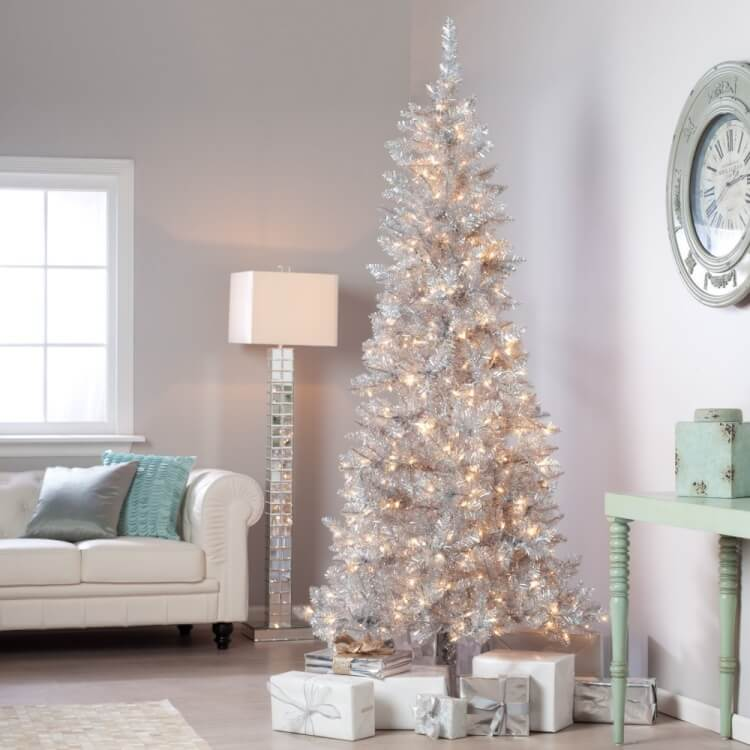 Silver Tinsel Tree 2
