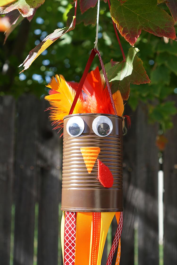 thanksgiving kids craft  turkey windsocks