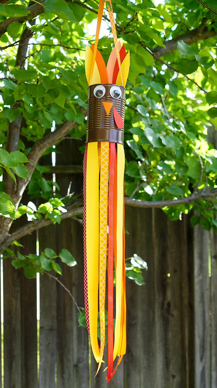 Thanksgiving Kids Craft: Turkey Windsocks - Happiness is ...