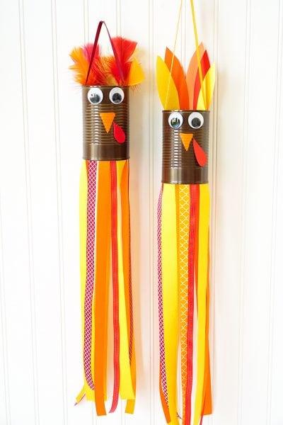 Thanksgiving Kids Craft: Turkey Windsocks