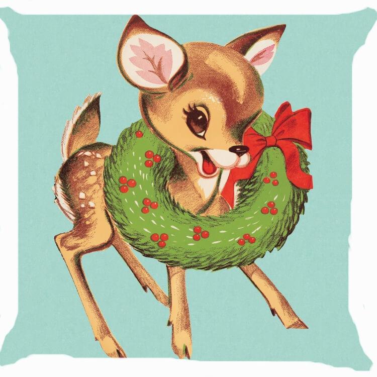 vintage-christmas-deer-pillow