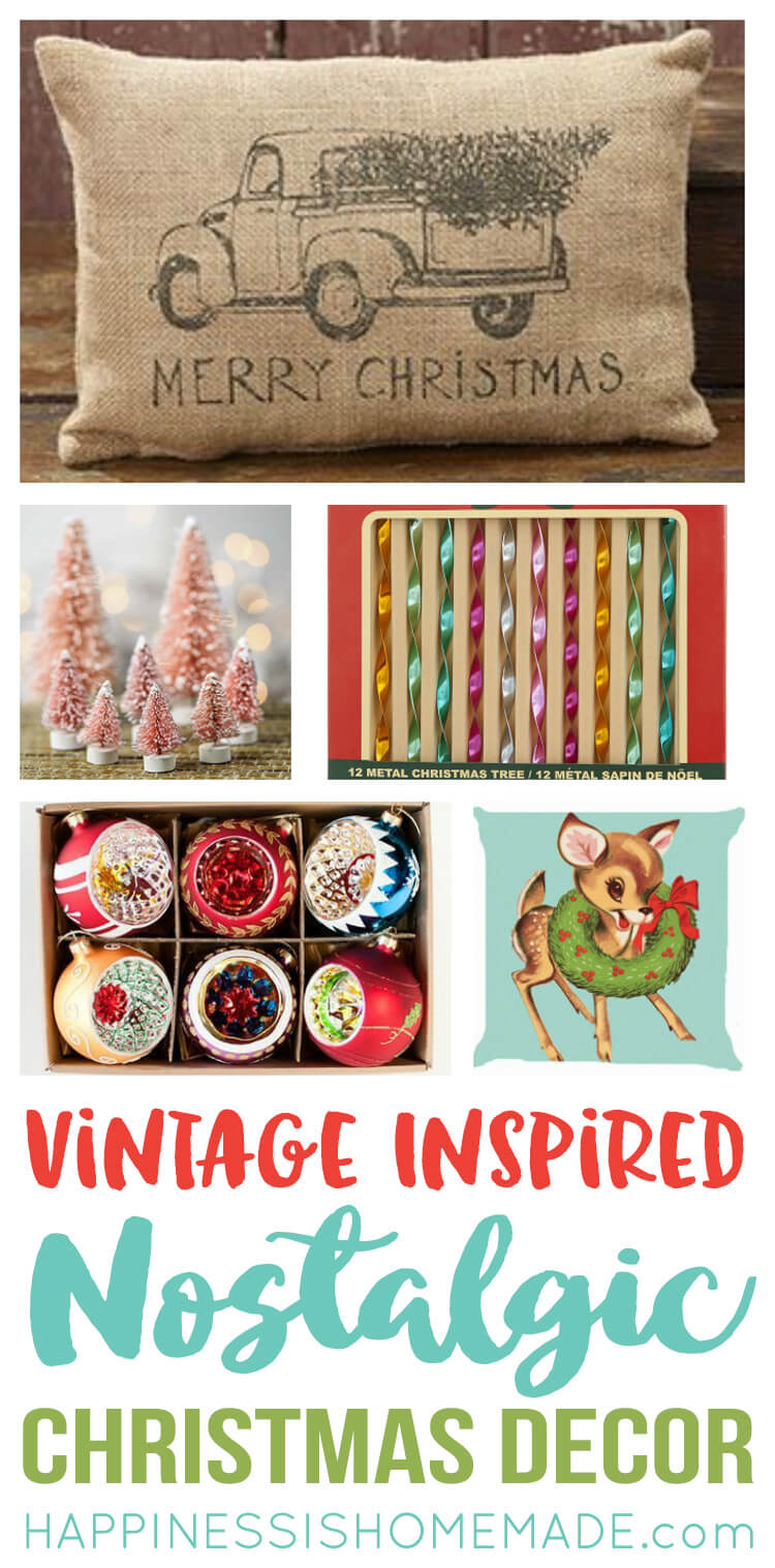 Nostalgic Vintage Inspired Christmas Decor - Happiness is ...