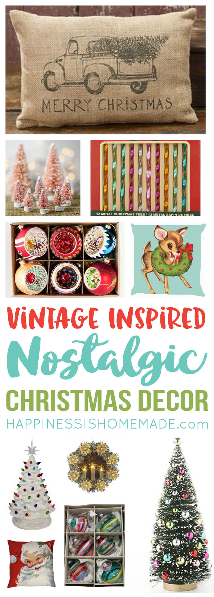 Nostalgic Vintage Inspired Christmas Decor Happiness Is