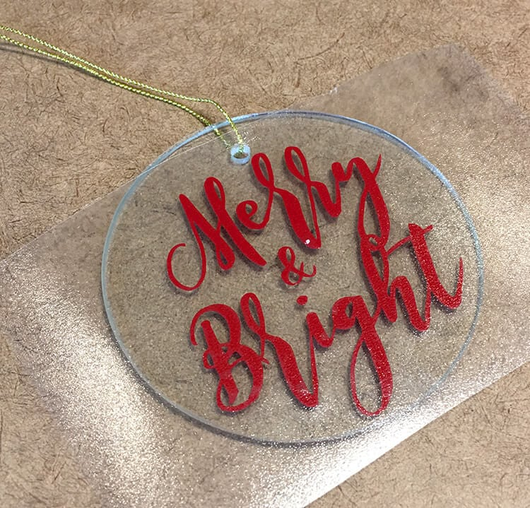applying-vinyl-to-a-glass-ornament
