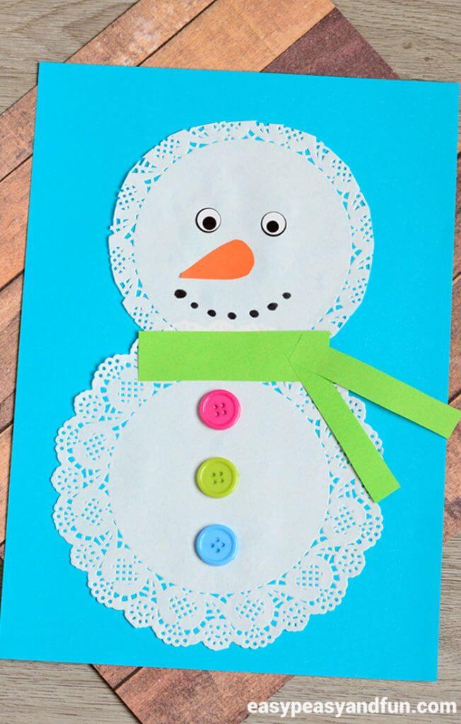 doily-snowman-craft