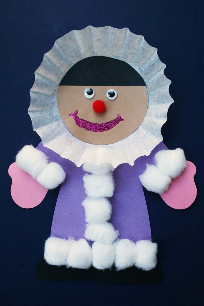 Kids Winter Craft Ideas Part - 36: Eskimo-up-close · Easy Eskimo Craft