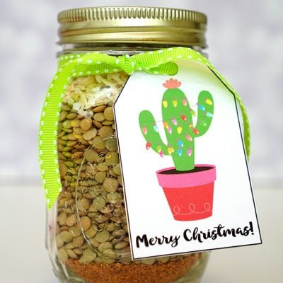 Printable Christmas Cactus Gift Tags