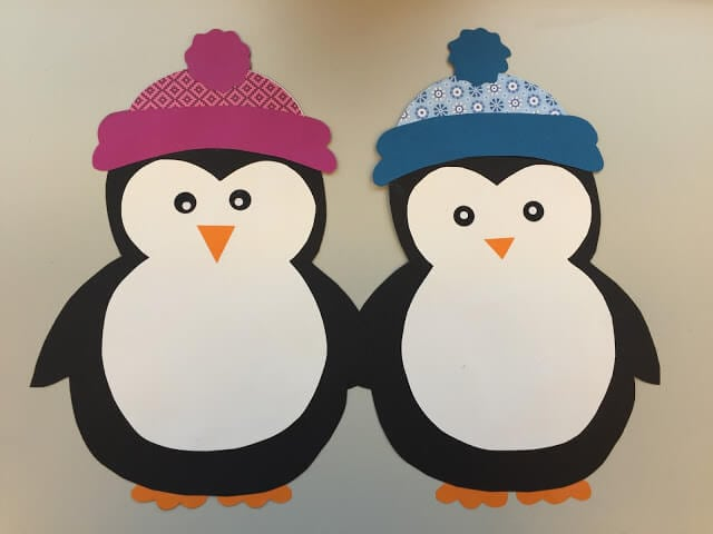 Easy winter kids crafts that anyone can make happiness - Bastelideen winter kindergarten ...