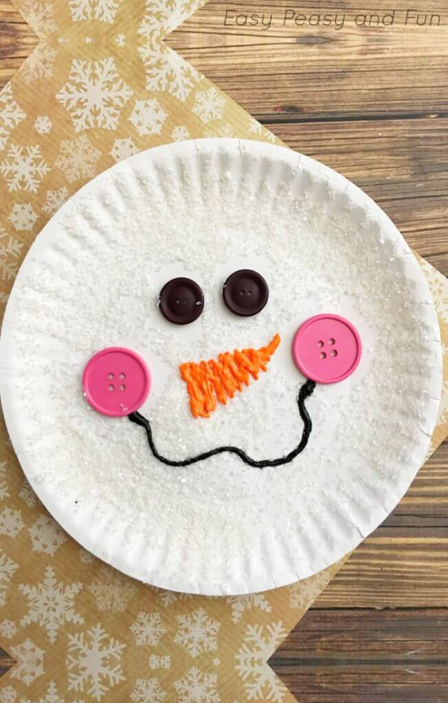 paper plate snowman craft for kids Easy Winter Kids Crafts That Anyone