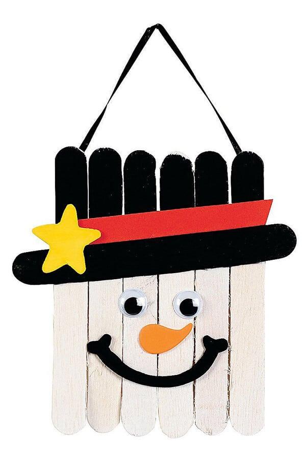 Popsicle Craft Stick Snowman Kids