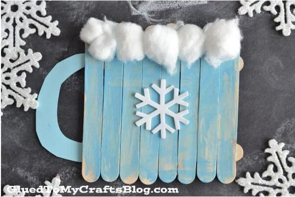 Popsicle Stick Hot Cocoa Mugs