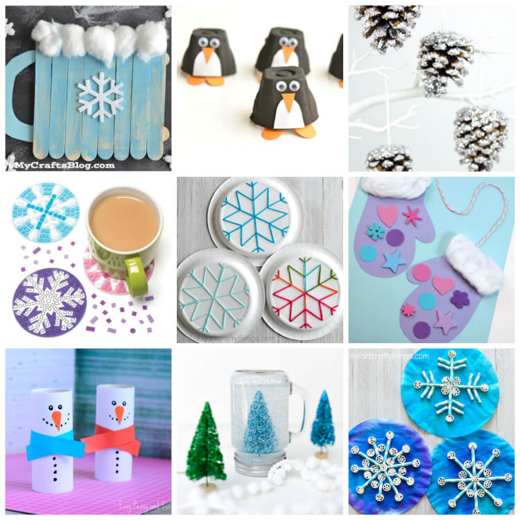 Easy winter kids crafts that anyone can make happiness for How to make winter crafts