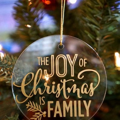 Easy Glass & Vinyl Christmas Ornaments