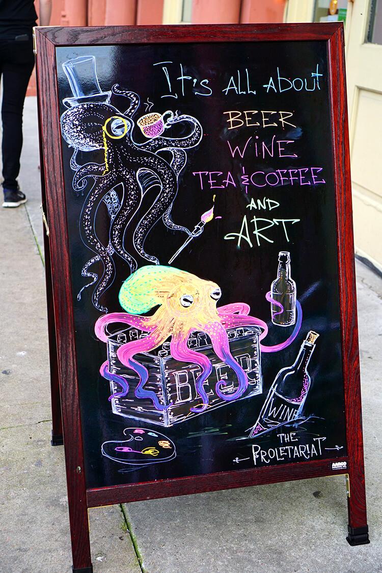 Art & Wine Sign