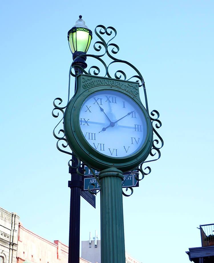 Clock Face in Galveston