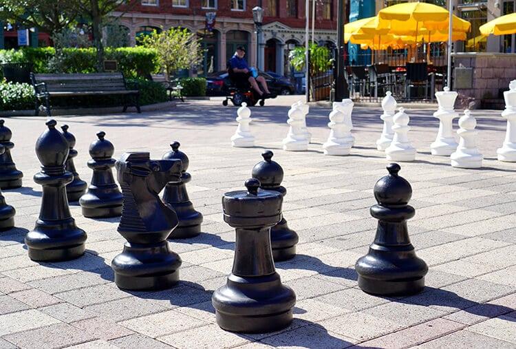 Outdoor Chess in Galveston
