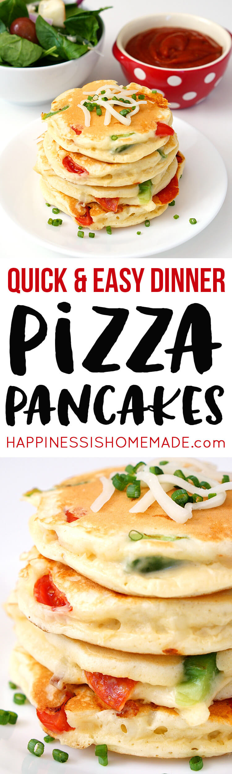 Pizza Pancakes Quick And Easy Dinner Recipe Idea