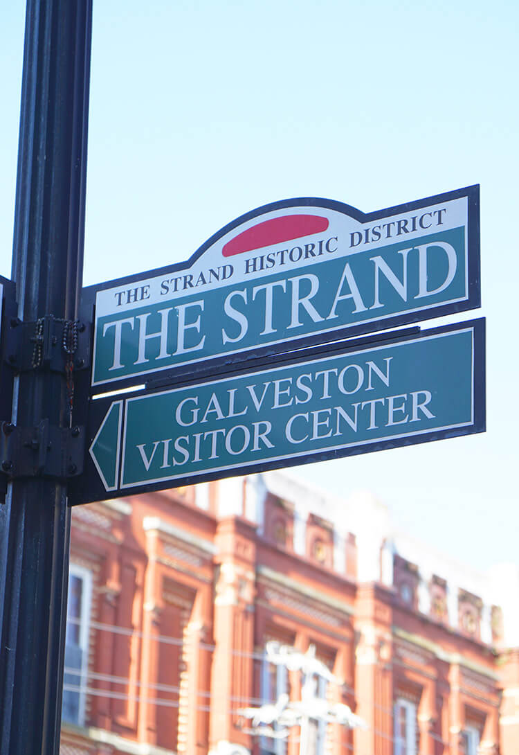 The Strand Historic District in Galveston Texas
