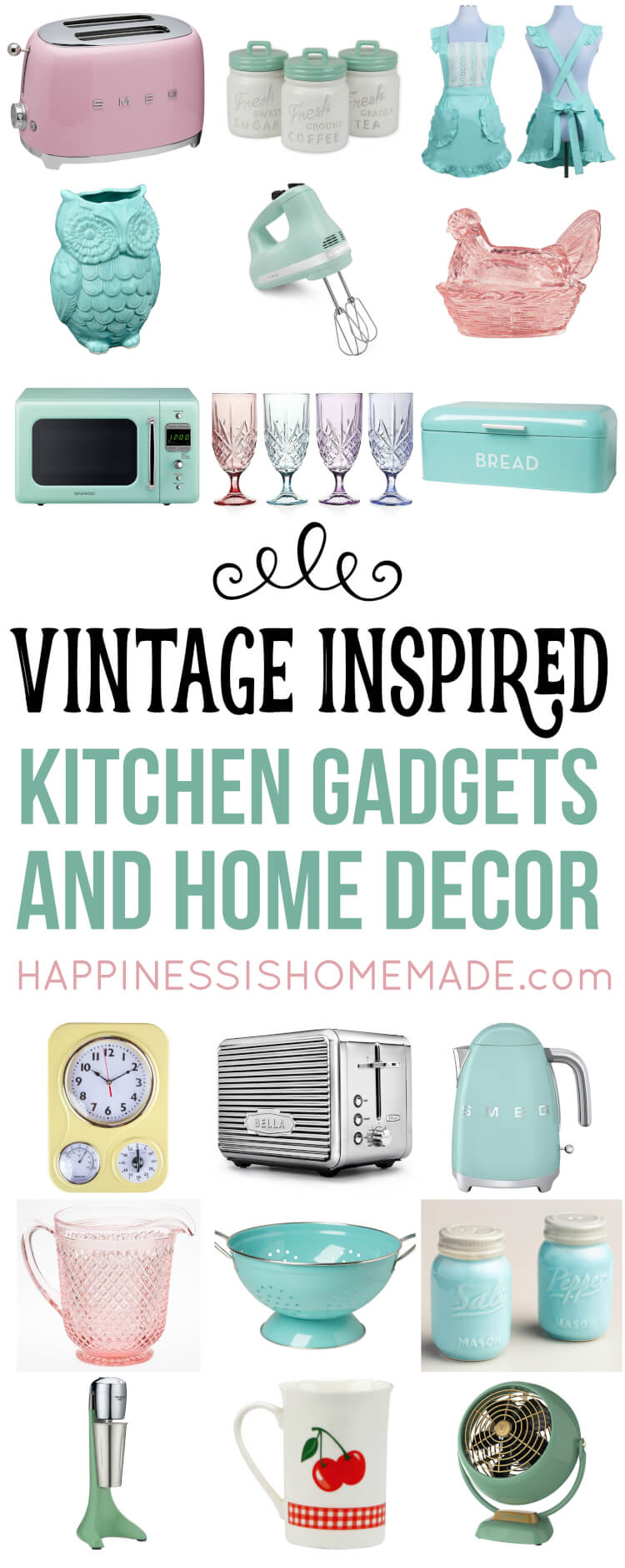 Vintage Inspired Kitchen Decor Amp Gadgets Happiness Is
