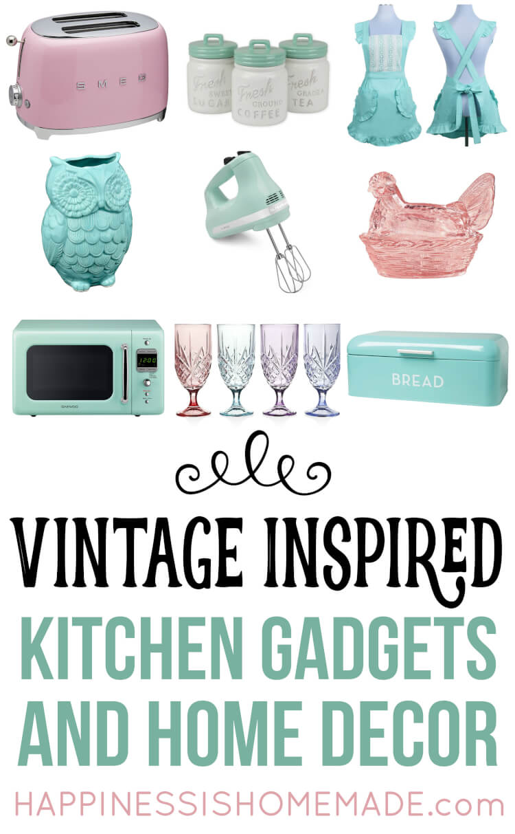 Nostalgic Vintage Inspired Kitchen Decor And Gadgets That Are Perfect For Your Kitschy Retro Revival