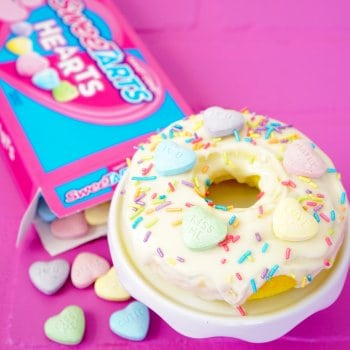 Valentine's Day Donuts & Candy Bouquet Gift Idea