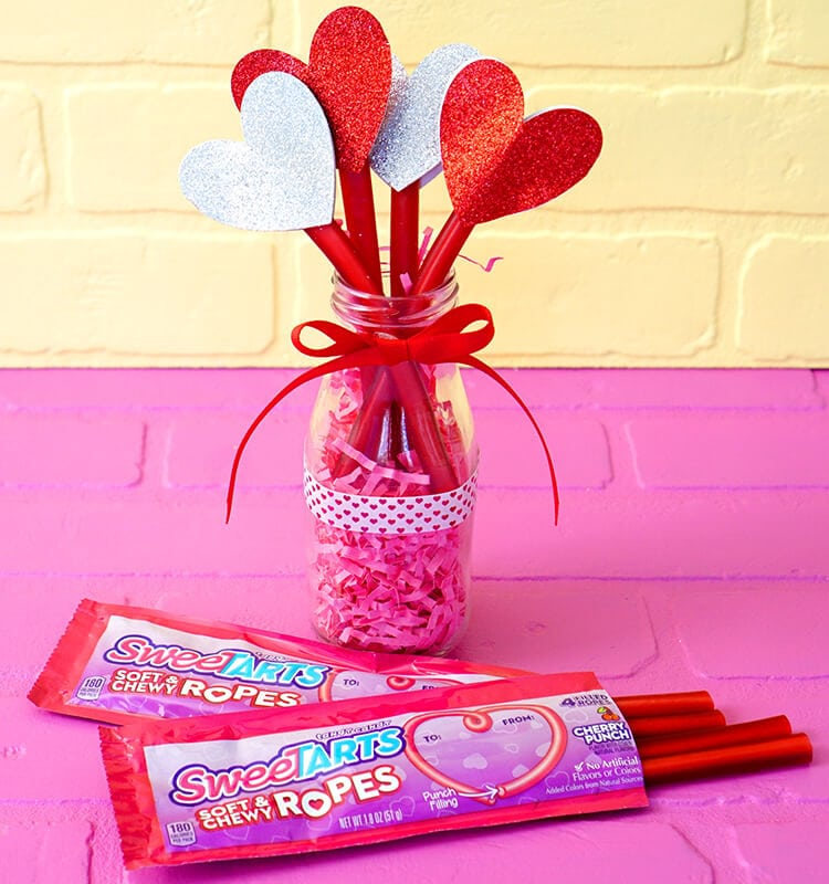SweeTART Ropes Valentine Heart Bouquet Gift Idea
