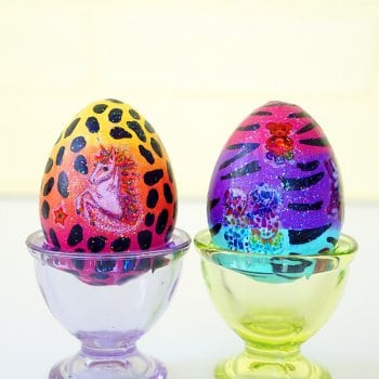 DIY Lisa Frank Easter Eggs