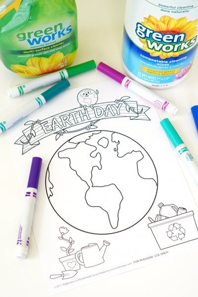 Earth Day Coloring Page Sheets
