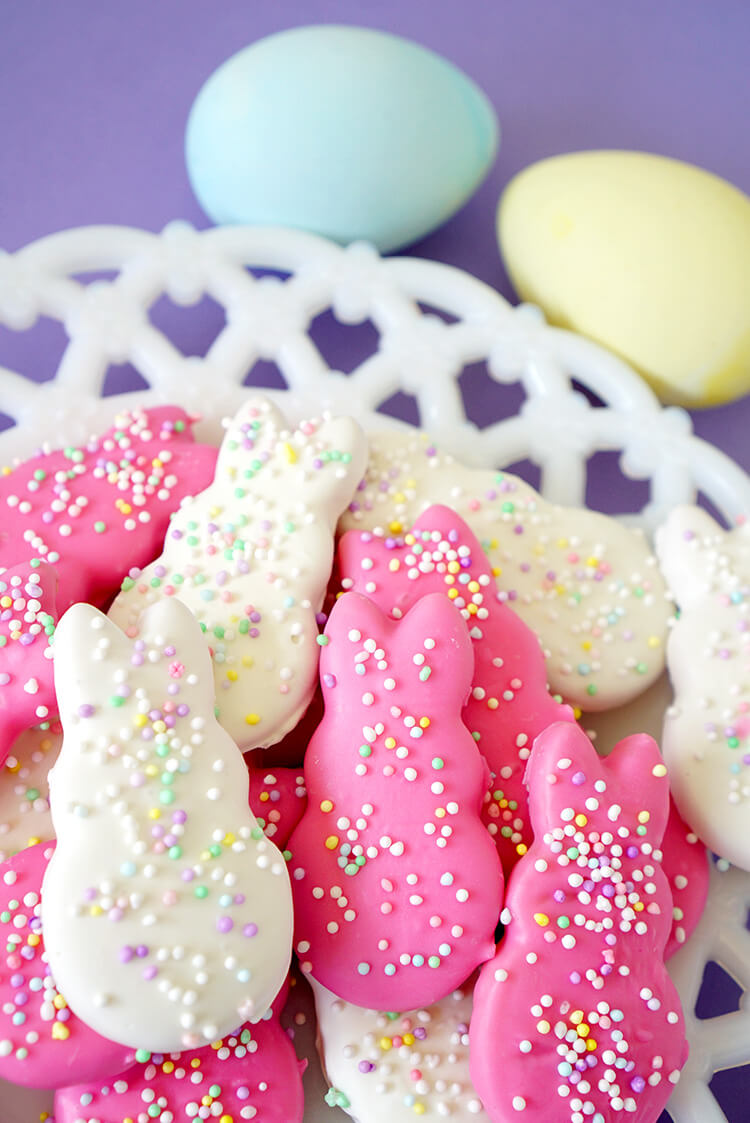 "These cute DIY Easter Bunny Circus Animal Cookies put a holiday spin on a classic favorite! Make your own ""Circus Animal"" cookies in adorable bunny shapes for Easter!"