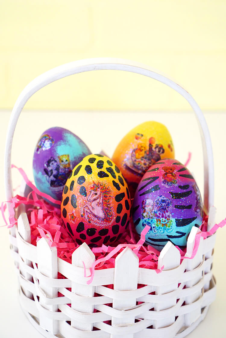 Diy lisa frank easter eggs happiness is homemade if you were a child of the 80s or 90s then you might remember lisa frank as the absolute epitome of cool if you wanted to be the star of the classroom negle Choice Image