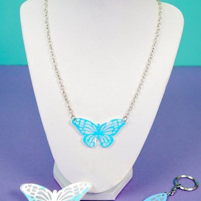 Holographic Shrink Plastic Jewelry with Cricut