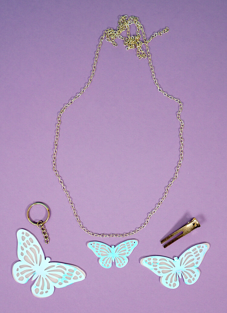 Holographic Shrink Plastic Jewelry With Cricut Happiness