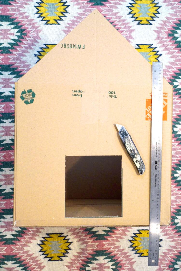 Diy Cardboard Cat House Happiness Is Homemade
