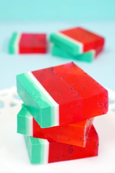 Quick and Easy Homemade DIY Watermelon Soap