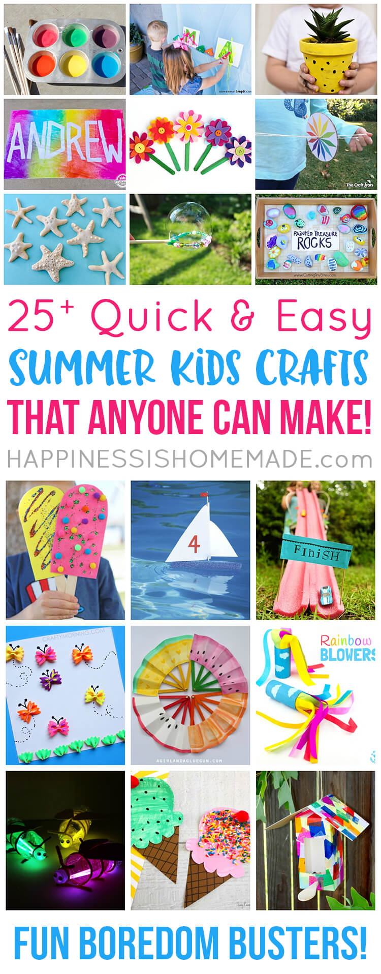 Easy Summer Kids Crafts That Anyone Can Make Happiness Is Homemade