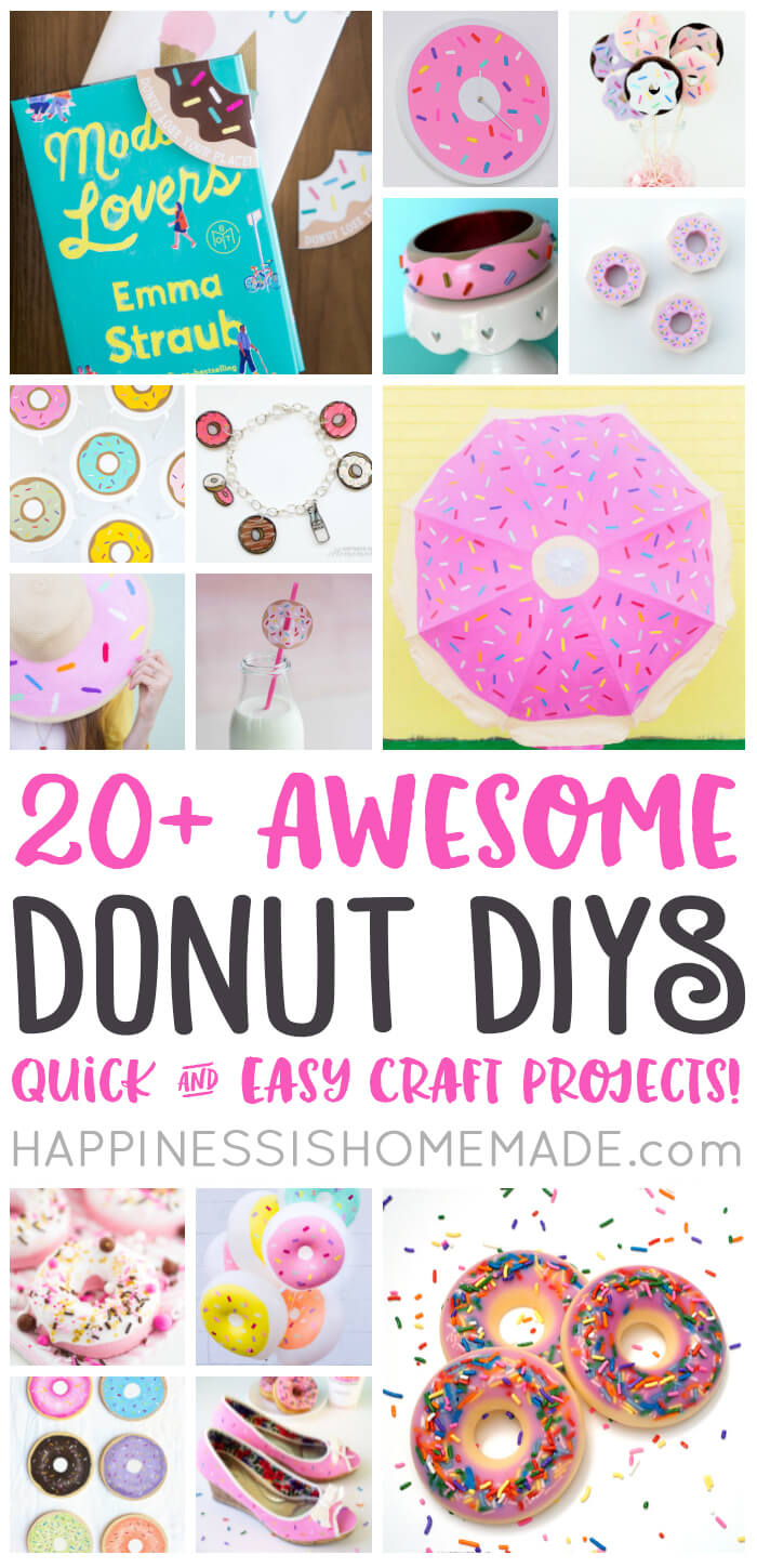 Over 20 awesome DIY donut craft project ideas for you to make, plus a few fantastic FREE donut printables, too!