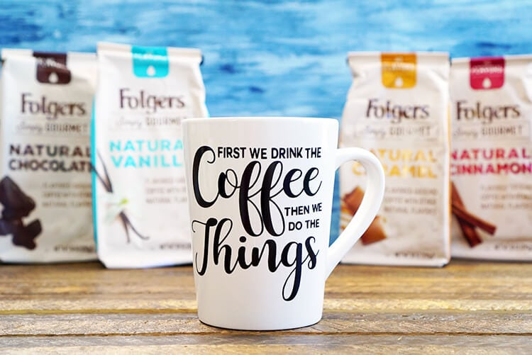 I had so much fun making these custom funny coffee mugs, and I am sure they'll be making an appearance on our homemade gift giving list this year!