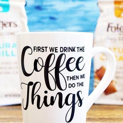 DIY Funny Coffee Mugs + Free SVG Cut Files
