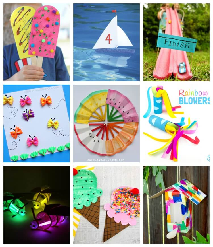 Easy Summer Kids Crafts That Anyone Can Make Hiness Is